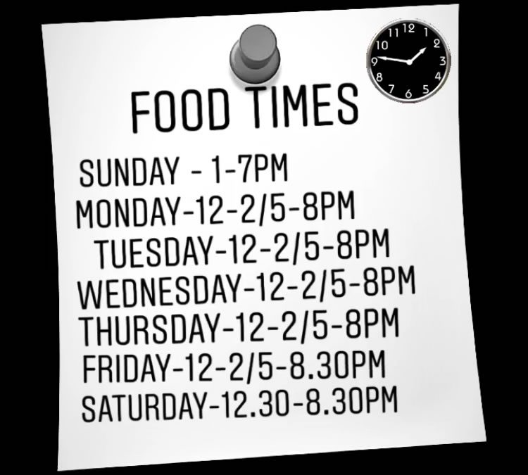 New Year, New Menus & Opening Times