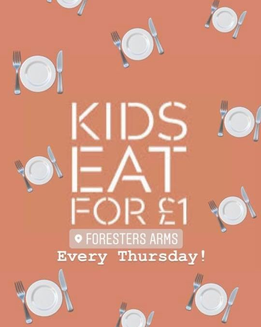 Kids eat for only £1!